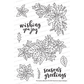 Newton's Nook Designs POINSETTIA BLOOMS Clear Stamps NN1811S01