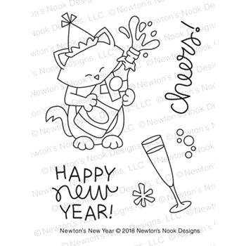 Newton's Nook Designs NEWTON'S NEW YEAR Clear Stamps NN1811S05