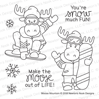 Newton's Nook Designs MOOSE MOUNTAIN Clear Stamps NN1811S04