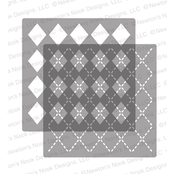 Newton's Nook Designs ARGYLE Stencil Set NN1811T01