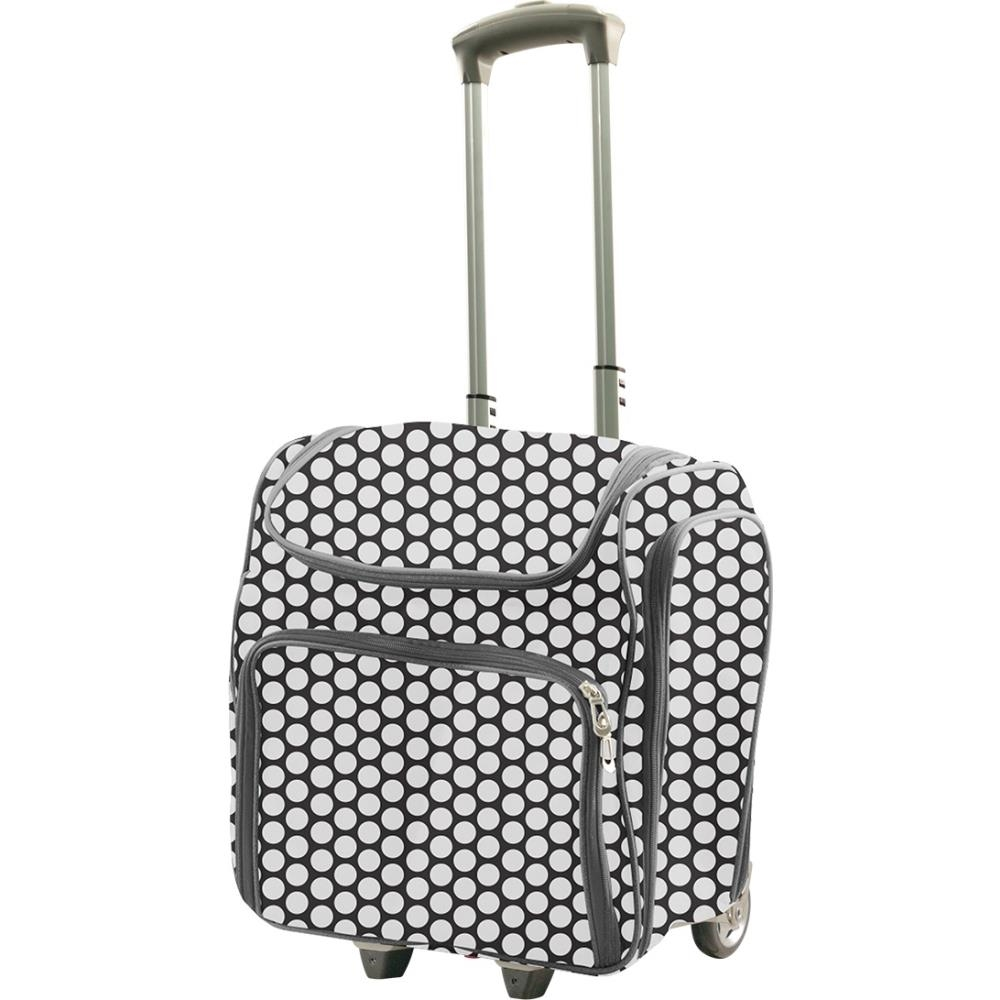 Couture Creations WHITE SPOTS Craft Rolling Travel Trolley co726361 zoom image