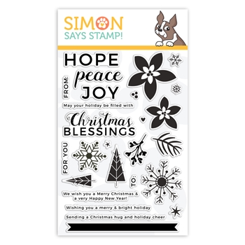 Simon Says Clear Stamps PEACEFUL CHRISTMAS sss101954