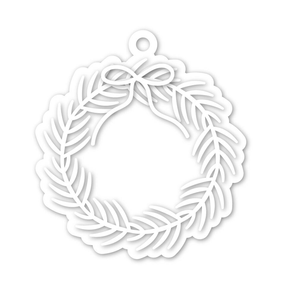 Simon Says Stamp WREATH TAG Wafer Dies SSSD111949 zoom image