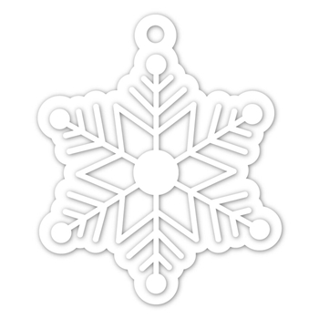Simon Says Stamp SNOWFLAKE TAG Wafer Dies SSSD111950