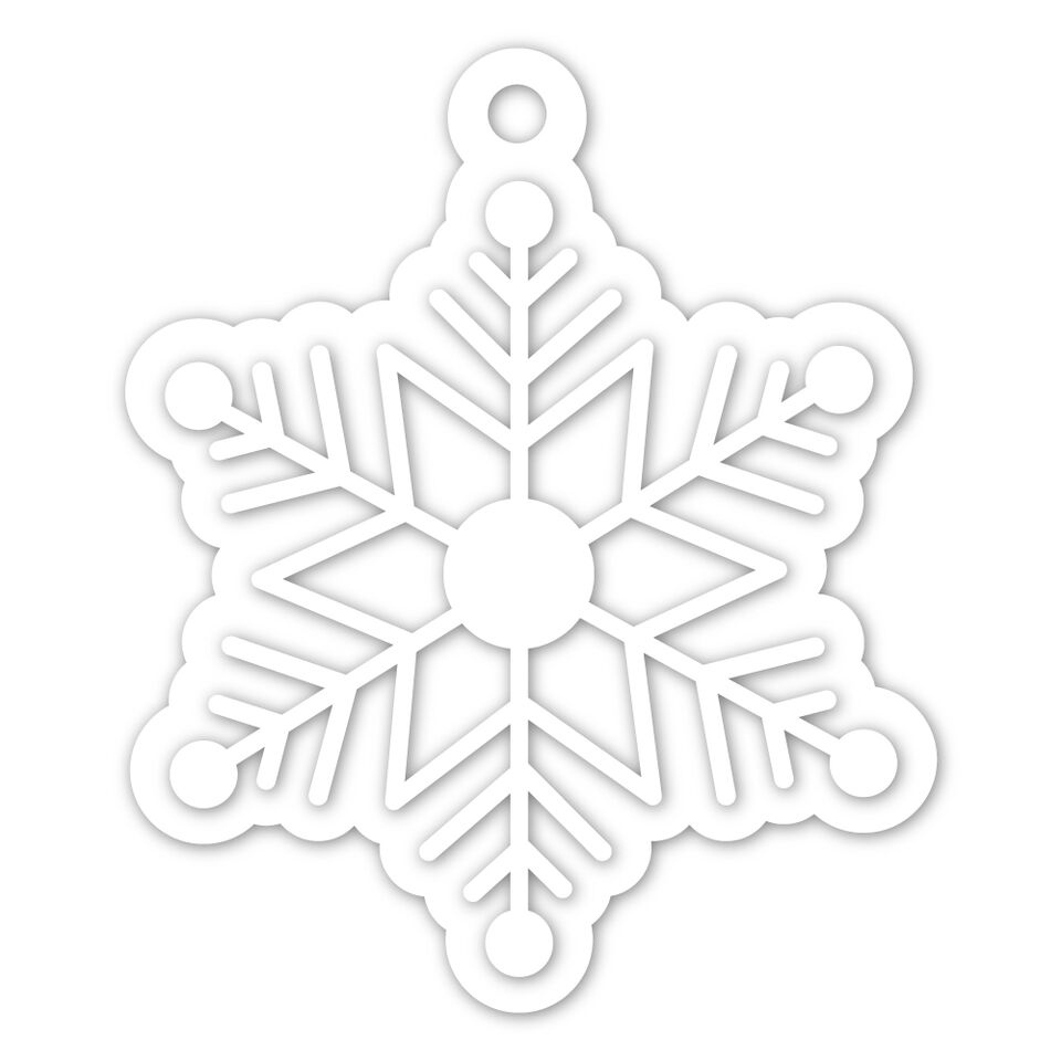 Simon Says Stamp SNOWFLAKE TAG Wafer Dies SSSD111950 zoom image