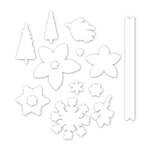 Simon Says Stamp PEACEFUL CHRISTMAS Wafer Dies sssd111948 Preview Image