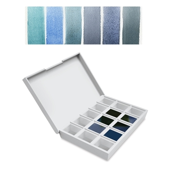 Daniel Smith BLUES Hand Poured Watercolor Half Pan Set 285650004