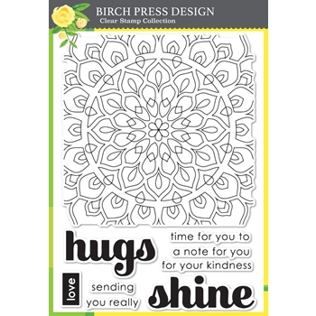 Birch Press Design SHINING MANDALA Clear Stamps cl8140