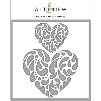 Altenew FLOWING HEART Stencil ALT2780