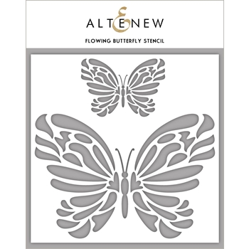 Altenew FLOWING BUTTERFLIES Stencil ALT2779