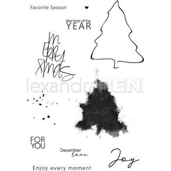 Alexandra Renke FAVORITE SEASON Clear Stamp Set astarw0006
