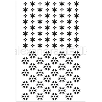 Alexandra Renke STAR PATTERN Clear Stamp Set astarmu0001