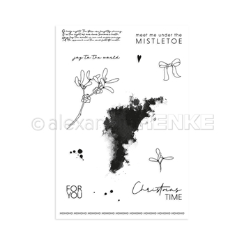 Alexandra Renke MEET ME UNDER THE MISTLETOE Clear Stamp Set astarw0004