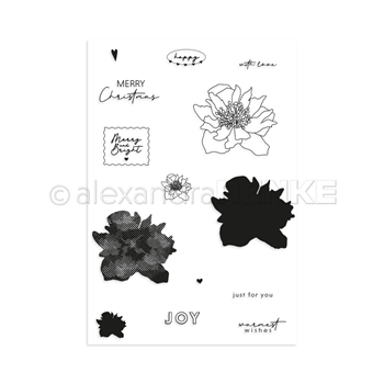 Alexandra Renke MERRY AND BRIGHT Clear Stamp Set astarw0005