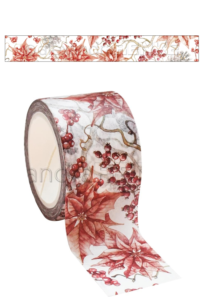 Alexandra Renke RED WINTER ROSE Washi Tape wtarw0022 zoom image
