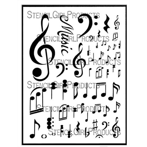 StencilGirl MUSIC NOTATIONS l688 Preview Image