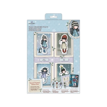 DoCrafts CHRISTMAS Cling Stamp Set Gorjuss go907900