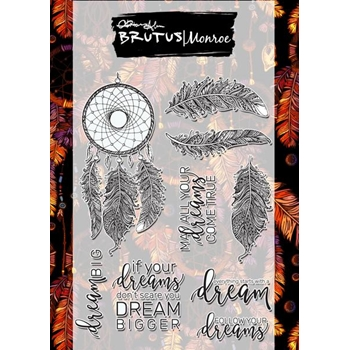 Brutus Monroe Clear Stamps CATCHING DREAMS bru9064