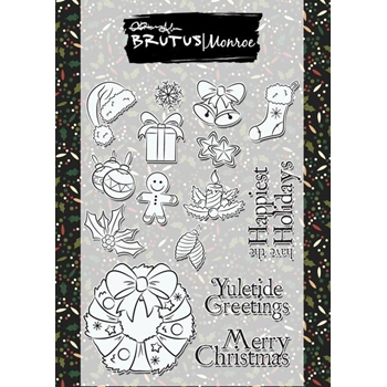 Brutus Monroe Clear Stamps YULETIDE GREETINGS bru9057