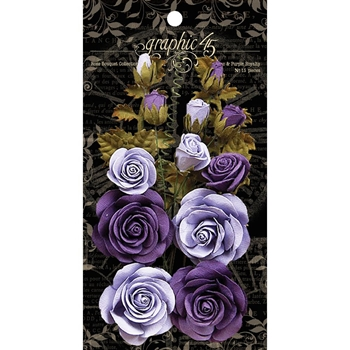 Graphic 45 FRENCH LILAC & PURPLE ROYALTY Rose Bouquet 4501787