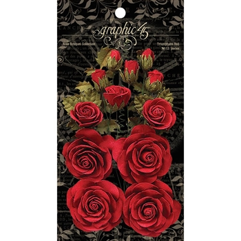 Graphic 45 TRIUMPHANT RED Rose Bouquet 4501785