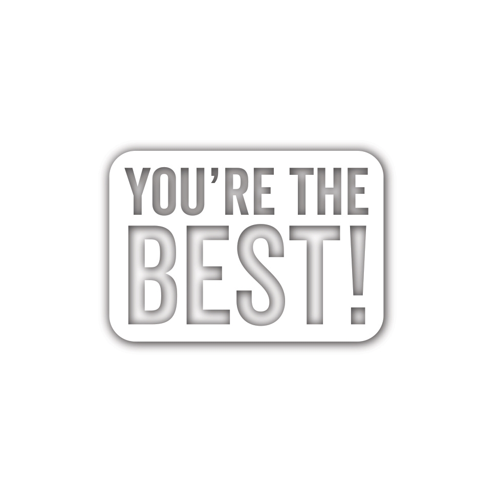 Simon Says Stamp YOU'RE THE BEST Wafer Die sssd111925 Diecember zoom image