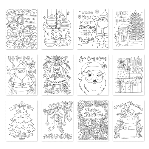 Simon Says Stamp Suzy's HAPPY HOLIDAYS COLLECTION Watercolor Prints hhcol18  Preview Image