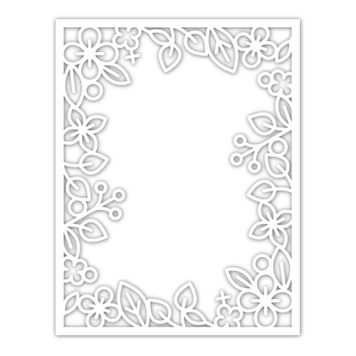 Simon Says Stamp OUTLINE FLORAL FRAME Wafer Die sssd111934 Diecember Preview Image