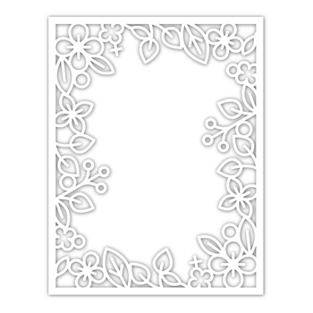 RESERVE Simon Says Stamp OUTLINE FLORAL FRAME Wafer Die sssd111934 Diecember