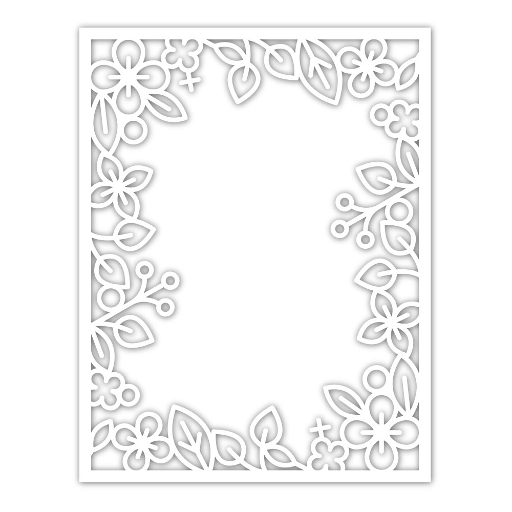 Simon Says Stamp OUTLINE FLORAL FRAME Wafer Die sssd111934 Diecember zoom image
