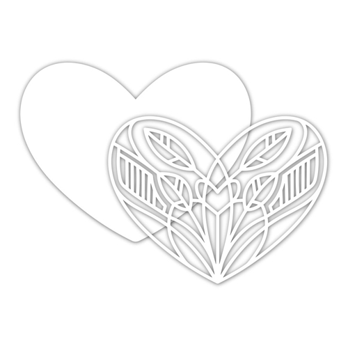 Simon Says Stamp DECO HEART Wafer Dies sssd111935 Diecember Preview Image
