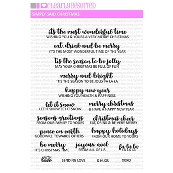 Clearly Besotted CHEERFUL CALLIGRAPHY Clear Stamps