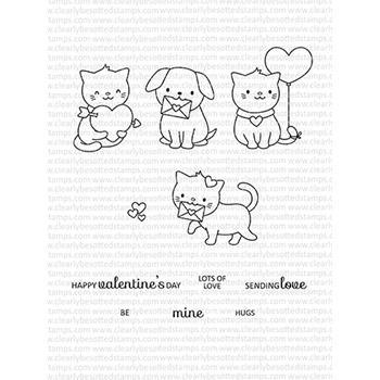 Clearly Besotted CUPID CUTIE Clear Stamps