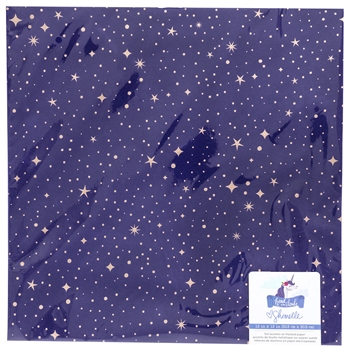 American Crafts Shimelle FLOCKED WITH ROSE GOLD FOIL Starry Night 12x12 Inch Cardstock Head in the Clouds 349472