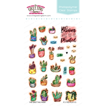 The Greeting Farm POTTED PLANTS Clear Stamps TGF453