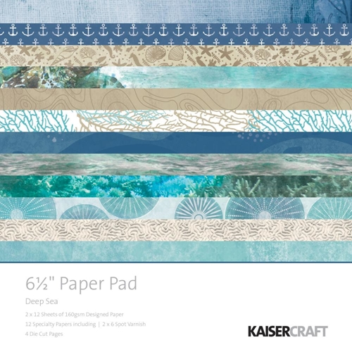 Kaisercraft DEEP SEA 6.5 Inch Paper Pad PP1058 Preview Image