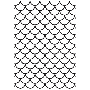 Kaisercraft SCALES 4x6 Inch Embossing Folder EF297