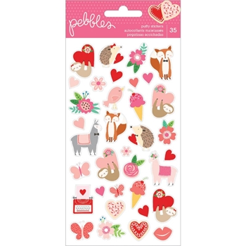 Pebbles Inc. LOVES ME ICONS Puffy Stickers 733952
