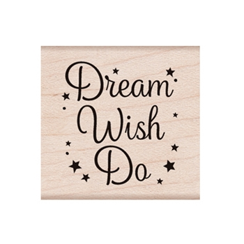 Hero Arts Rubber Stamp DREAM DO WISH D6329