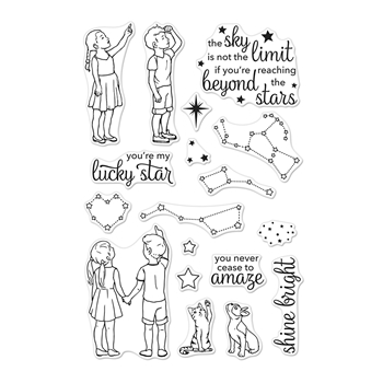 Hero Arts Clear Stamps LUCKY STAR CM315