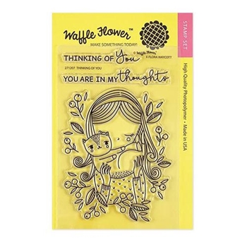 Waffle Flower THINKING OF YOU Clear Stamps 271207