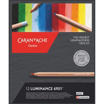 Caran d'Ache LUMINANCE 12 Colored Pencils 6901712
