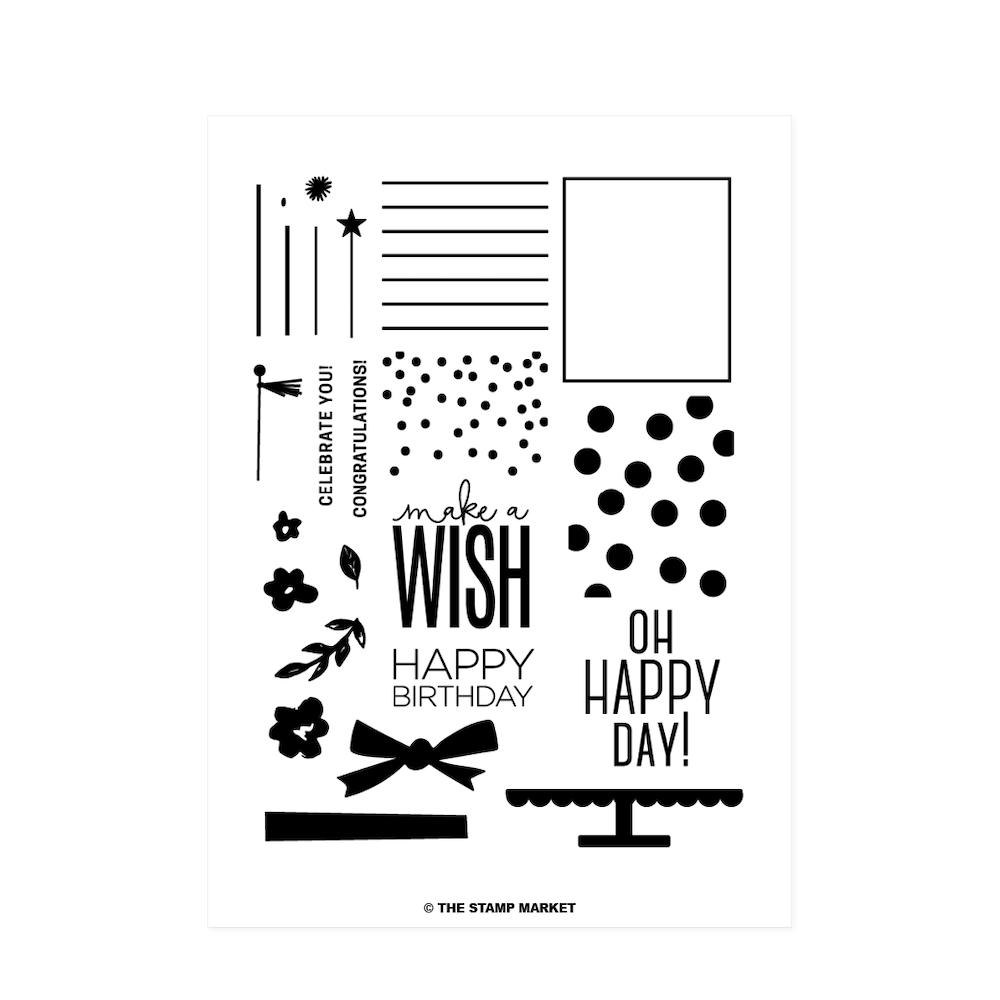 The Stamp Market BIRTHDAY WISHES Clear Stamp Set tsm008 zoom image