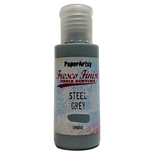 Paper Artsy Fresco Finish STEEL GREY Chalk Acrylic Paint 1.69oz ff134  Preview Image