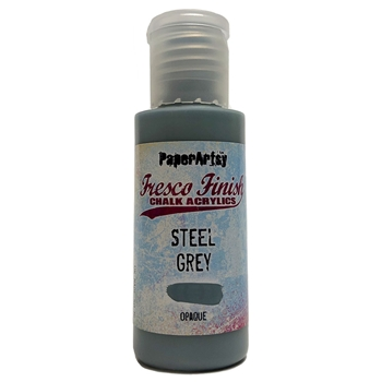 Paper Artsy Fresco Finish STEEL GREY Chalk Acrylic Paint 1.69oz ff134