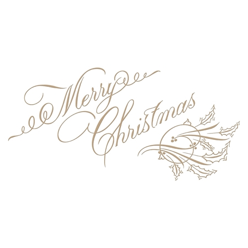 GLP-067 Spellbinders COPPERPLATE MERRY CHRISTMAS Glimmer Hot Foil Plate by Paul Antonio Preview Image