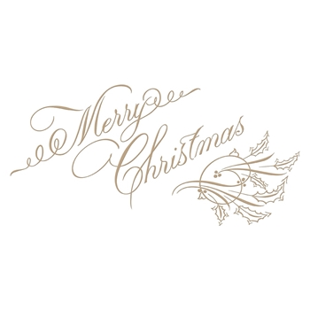 GLP-047 Spellbinders COPPERPLATE MERRY CHRISTMAS Glimmer Hot Foil Plate by Paul Antonio