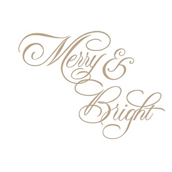 GLP-063 Spellbinders COPPERPLATE MERRY AND BRIGHT Glimmer Hot Foil Plate by Paul Antonio