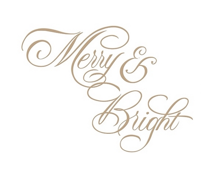 GLP-063 Spellbinders COPPERPLATE MERRY AND BRIGHT Glimmer Hot Foil Plate by Paul Antonio zoom image