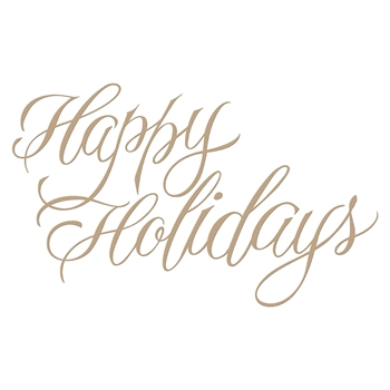 GLP-068 Spellbinders FAUX HAPPY HOLIDAYS Glimmer Hot Foil Plate by Paul Antonio